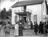 Dedication of a memorial commemorating the Indian Mission on Chamokane Creek, Spokane County,...