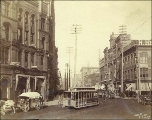 1st Ave. from Cherry St., looking north, Seattle, Washington, ca. 1890.
