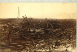 Aftermath of Seattle fire of June 6, 1889, looking north at the ruins of the Seattle Lake Shore...