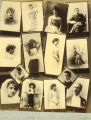 Collage of photographs featuring portraits of men, women and children, Washington, ca. 1889.