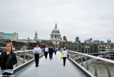 View of St Paul's Cathedral from Millennium Bridge