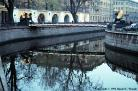 Lion Bridge view with Griboedov Canal