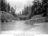 Bridge over the Elwha River, probably McDonnel Bridge in Clallam County