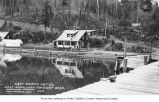 East Beach Hotel viewed from the dock and overlooking Lake Crescent, Clallam County, ca. 1914