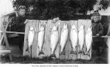 Children displaying trout probably caught in Lake Crescent