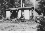 Lake Crescent telephone office near Barnes Point, Clallam County, ca. 1925