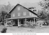 Lake Crescent Tavern resort exterior, Clallam County, ca. 1920