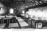 Ovington's Resort dining room interior near Lake Crescent, Clallam County, ca. 1940
