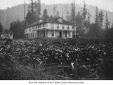 Hotel Crescent viewed from a garden near Lake Crescent, Piedmont, ca. 1914