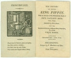 The History of little King Pippin : With an account of the melancholy death of four naughty boys,...