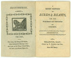 A short history of birds and beasts, for the amusement and instruction of children (frontispiece...