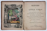 Sketches of little girls (frontispiece and title page)