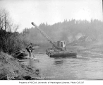Dredging in Lake Sammamish, February 10, 1934