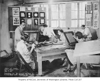 Firland Sanatorium interior showing people at work in an arts and crafts studio, Shoreline,...