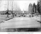 Firland Sanatorium entrance road paving, Shoreline, February 14, 1934