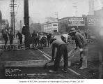 Roadwork at Railroad Ave. south of Washington St., Seattle, February 1, 1934