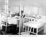 King County Hospital room interior showing children's ward, Seattle, January 8, 1934