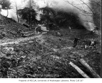 Clearing land and cutting fuel wood on state lands north of Seattle, January 18, 1934