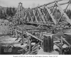 Bridge construction over the Cedar River in Barneston, March 19, 1934