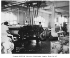 Firland Sanatorium interior showing women at work in the laundry room, Shoreline, January 30, 1934