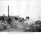 Clearing land at the Preston Airport site, Preston, March 26, 1934