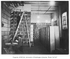 King County Hospital records storage office interior, Seattle, January 8, 1934