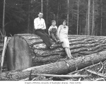Family group at Clemons Logging Company camp no. 5, 1926