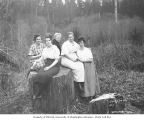 Five women, probably mess hall crew members, ca. 1921