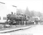 Crew with 2-8-0 Milwaukee locomotive no. 7058, Weyerhaeuser Timber Company, n.d.