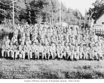 Members of Company 1456 of the Civilian Conservation Corps at Camp Cathlamet, ca. 1937