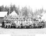 Members of Company 252, Civilian Conservation Corps, at Camp Packwood, ca. 1937