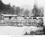 Members of Company 2941, Civilian Conservation Corps, at Camp Sunshine Point, Longmire, ca. 1937