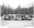 Members of Company 713, Civilian Conservation Corps, at Camp White River, Parkway, ca. 1937