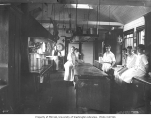 Galley interior and crew, Clemons Logging Company, ca. 1926