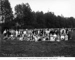 Members of the Church of God at a picnic, Montesano, ca. 1925