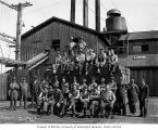 Crew at shingle mill, Schafer Brothers Logging Company, probably in Grays Harbor County, n.d.