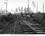 Asian railroad track construction crew, Schafer Brothers Logging Company, probably in Grays Harbor...