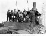 Donkey engine and crew, North Western Lumber Company, probably in Grays Harbor County, n.d.