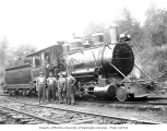 Eufaula Company 2-6-2 Baldwin locomotive no. 1 with crew, ca. 1921