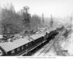 Saginaw Timber Company's railroad logging camps 7 and 8, possibly in Grays Harbor County, n.d.