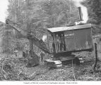 Bucyrus steam shovel and construction crew, Wynooche Timber Company, probably in Grays Harbor...