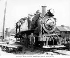 Wynooche Timber Company's two-truck Baldwin saddle-tank 2-6-2T locomotive 3, probably in Grays...