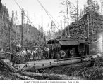 Loading crew with diesel donkey engine, Simpson Logging Company, probably in Mason County, n.d.