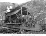 Loading crew and donkey engine, Polson Logging Company, near Hoquiam, n.d.
