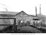 Shingle mill and crew, Carbon River Shingle Company, n.d.