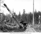 Construction crew and steam shovel, Polson Logging Company, near Hoquiam, n.d.