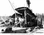 Donkey engine and crew, camp 14, Polson Logging Company, near Humptulips, n.d.