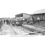 Crew at lumber mill, Eastern Railway and Lumber Company, n.d.