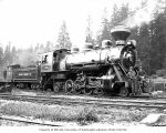 Polson Logging Company's Baldwin Mikado locomotive 90 at company headquarters, known as Railroad...