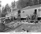 Loggers at camp 7, Coats-Fordney Lumber Company, near Aberdeen, ca. 1920